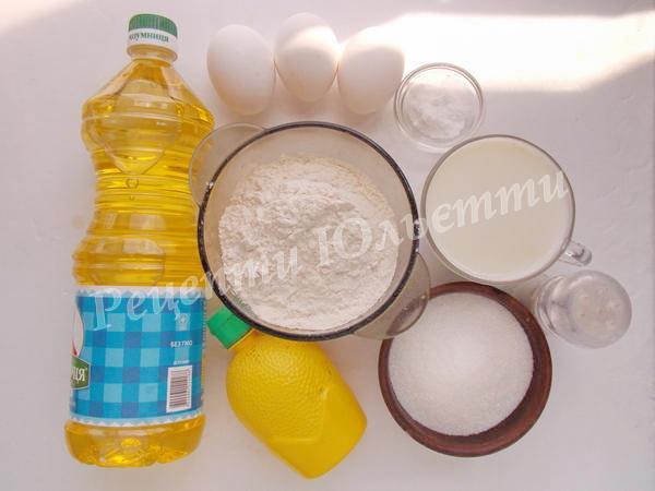 інгредієнти для млинців