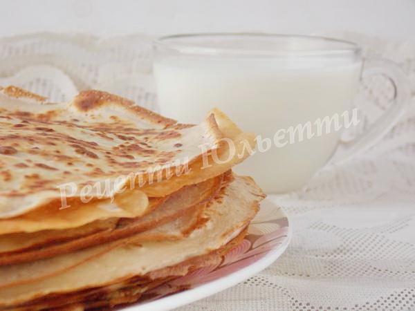 смачні млинці на молоці