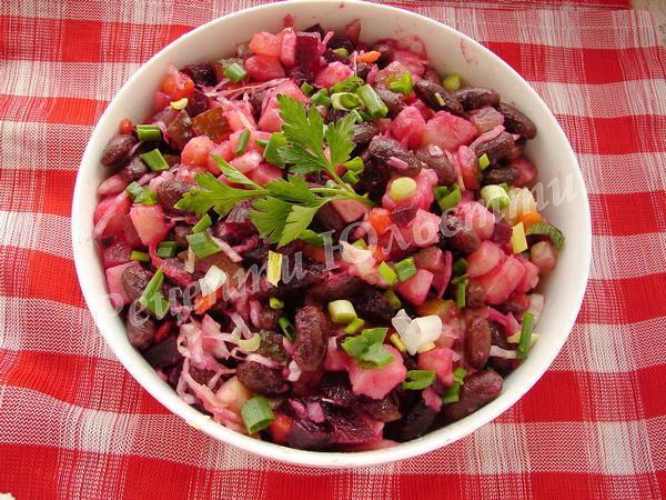 салат вінегрет з квасолею