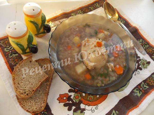 смачний гречаний суп