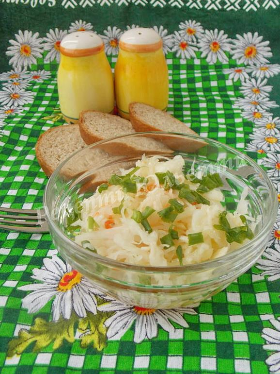 салат з капустою та цибулею