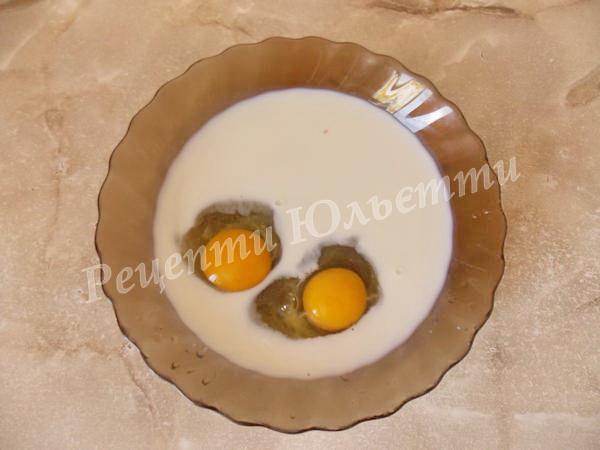 збиваємо яйця із молоком