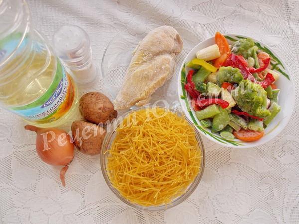інгредієнти для супу з овочами