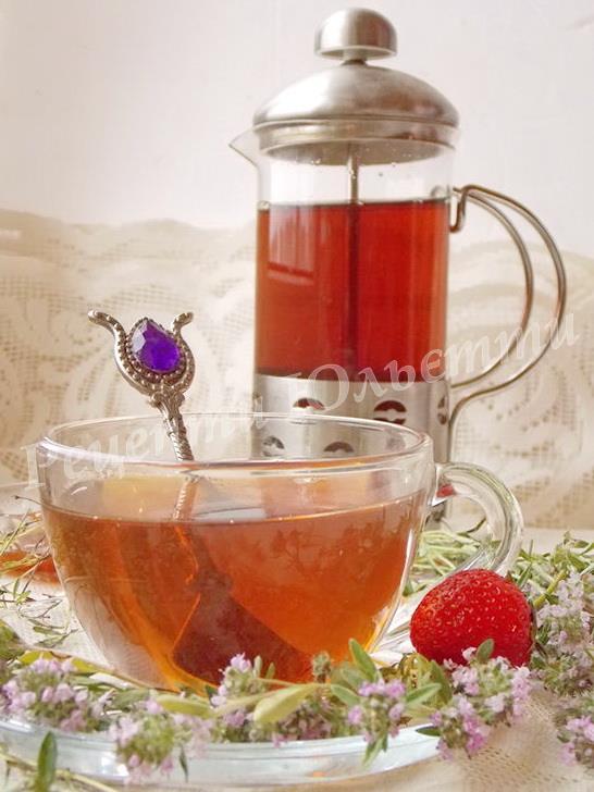 заспокійливий чай з чебрецем