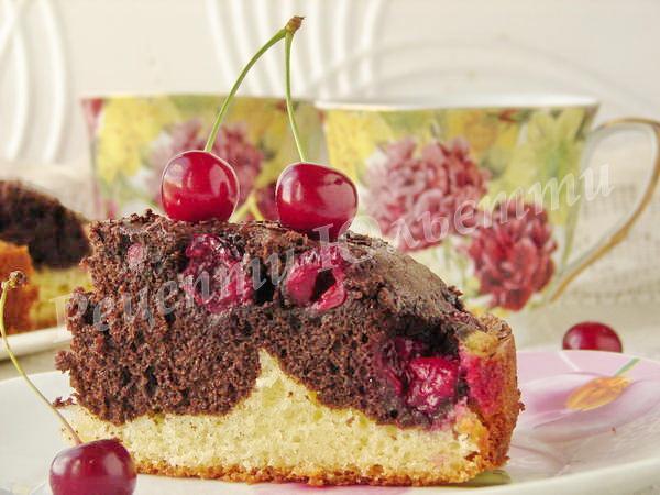 пиріг вишнева хвиля