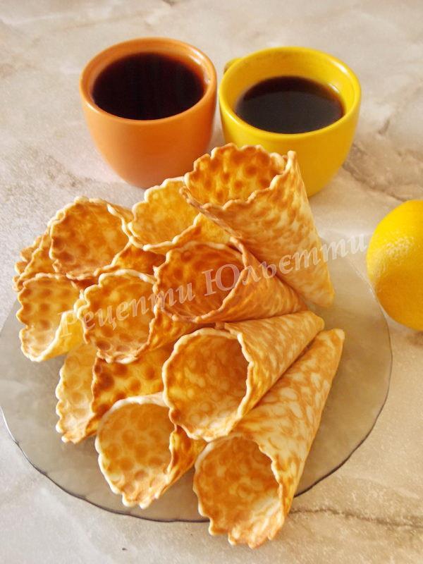 домашні вафлі до чаю