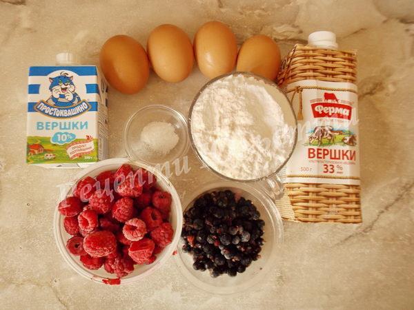 інгредієнти для приготування морозива