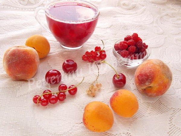 корисний компот з ягід та фруктів