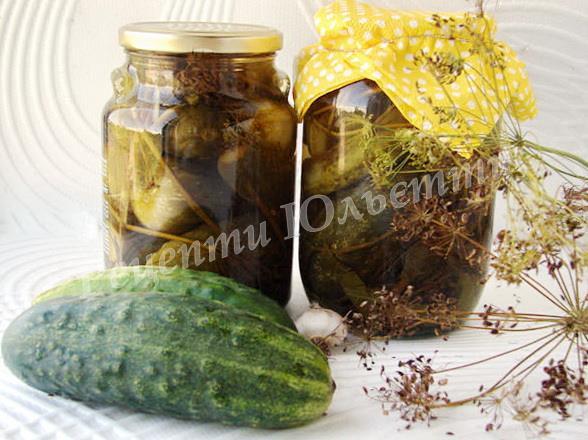 смачні мариновані огірки