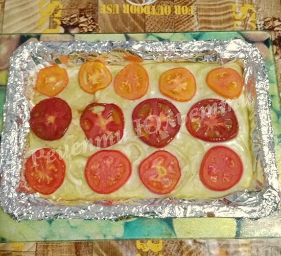 піца з кабачків та овочів
