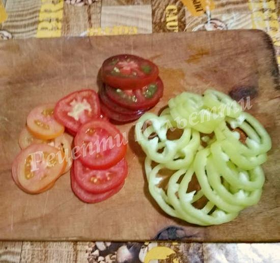 підготуємо помідори та перець