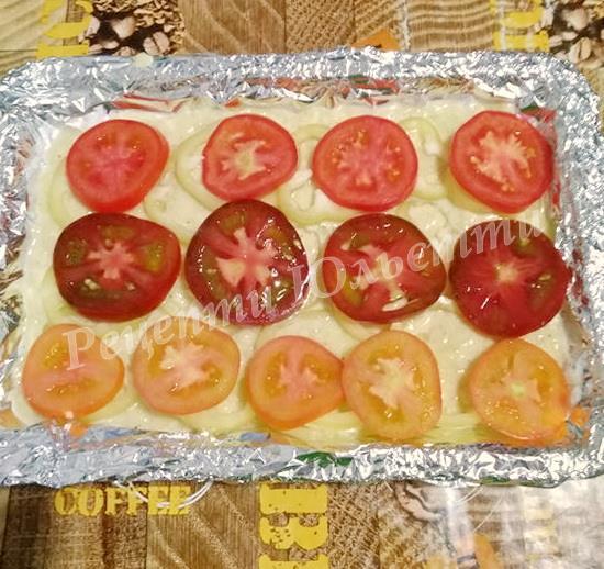 розподіляємо овочі на піцу