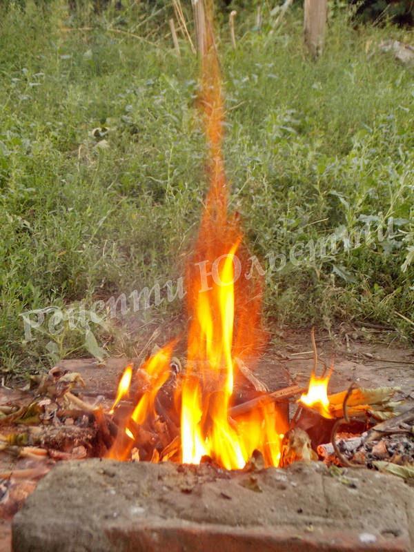 розпалюємо невелике вогнище