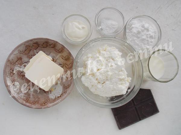 інгредієнти для глазурованих сирків