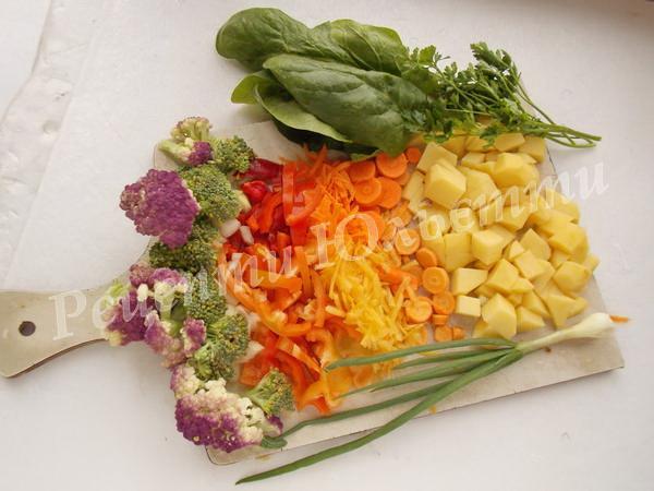 підготуємо овочі для супу