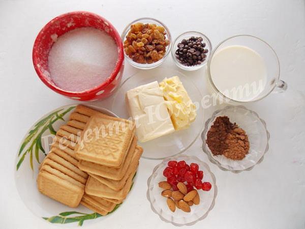 інгредієнти для солодкої ковбаски