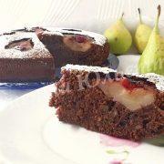 шоколадний пиріг із грушами