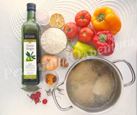 інгредієнти для іспанської паельї