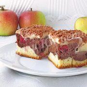 пиріг Дунайські хвилі з яблуками та вишнями