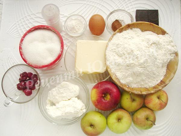 інгредієнти для сирного пирога