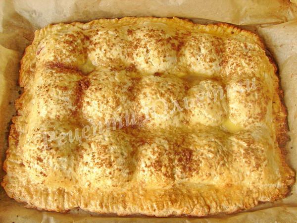 випікаємо сирний пиріг з яблуками