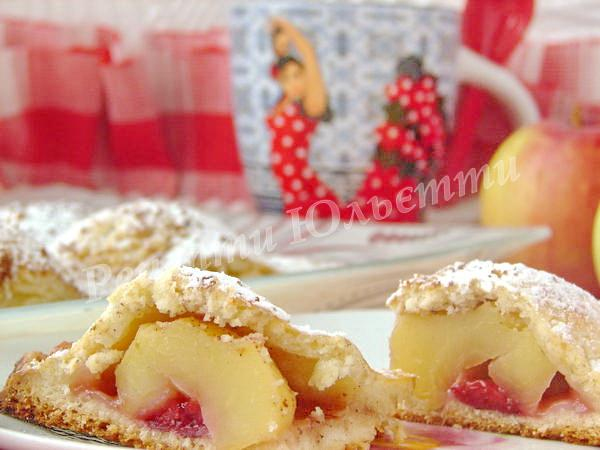 запашний сирний пиріг із яблуками