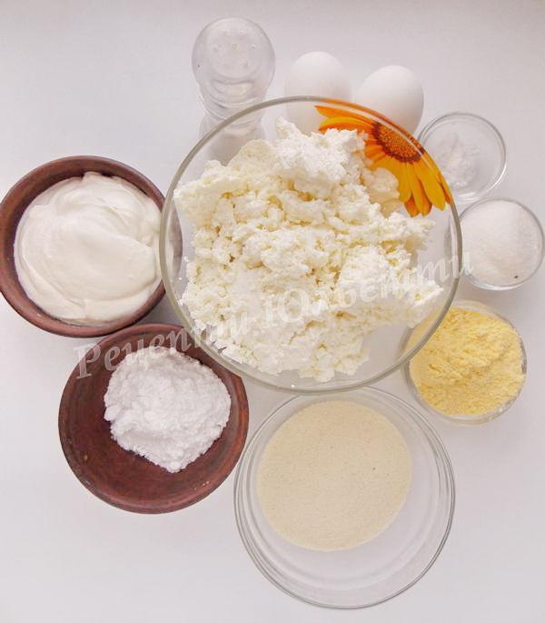 інгредіенти для сирників в духовці