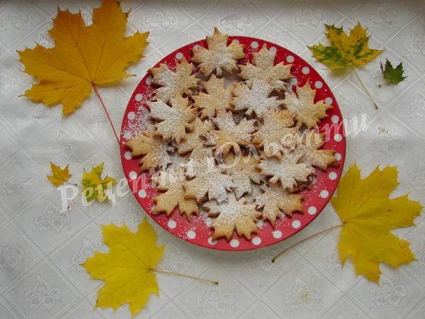 печиво кленовий лист