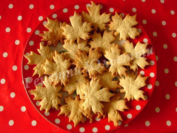 оригінальне печиво кленовий лист
