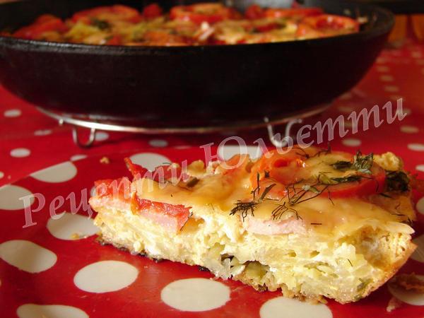 картопляна піца на сковороді