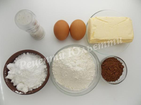 інгредієнти для пісочного печива