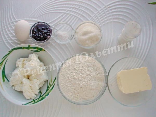 інгредієнти для пісочних тістечок