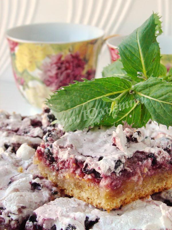 пісочні тістечка з варенням та безе