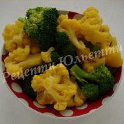 броколі та цвітна капуста в яйці