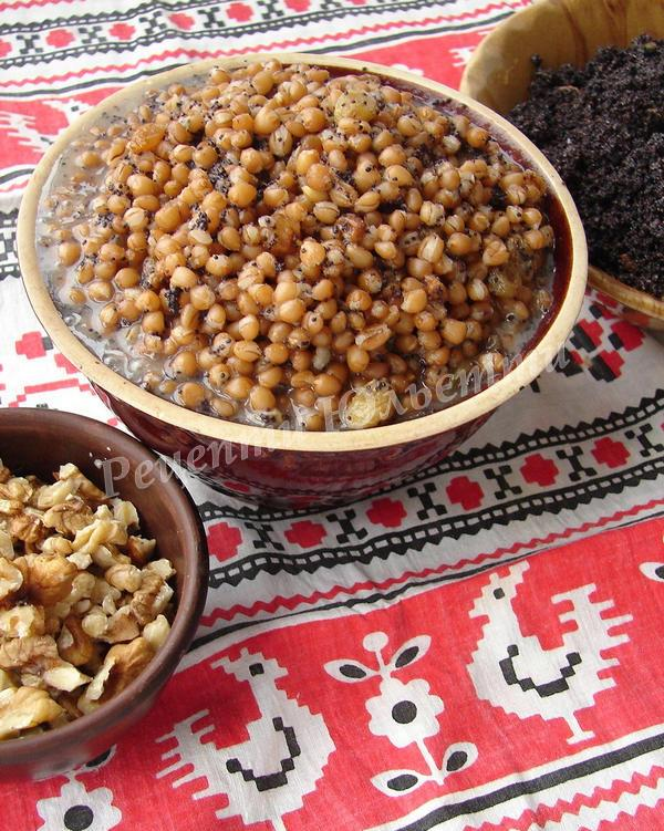 пшенична кутя з медом