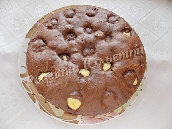 смачний пиріг з сирними кульками