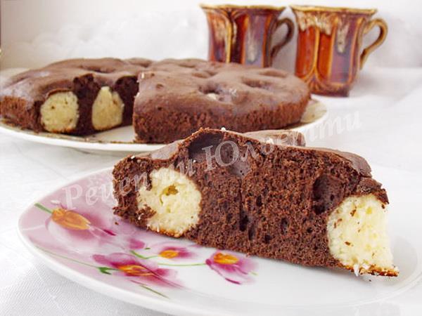 шоколадний пиріг з сиром