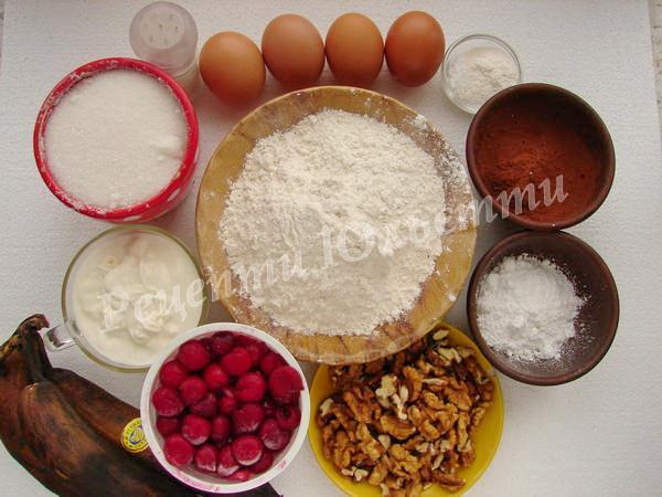 інгредієнти для торту