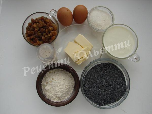 інгредієнти для вареників з маком
