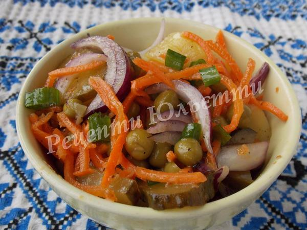 салат із морквою по-корейськи з огірком та картоплею