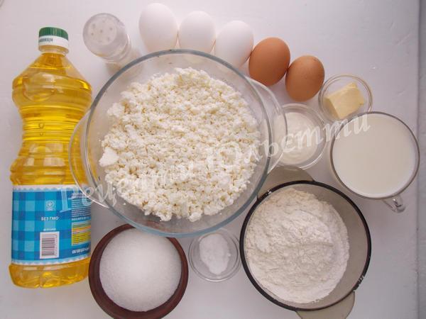 інгредієнти для налисників з сиром