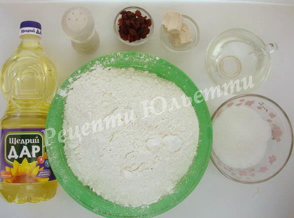 інгредієнти для булочок жайворонків