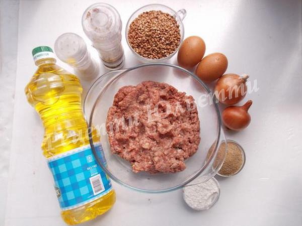 інгредієнти для гречаників