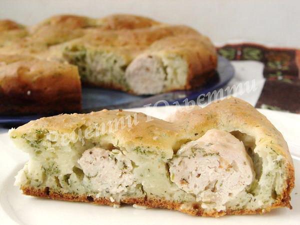 смачний пиріг з фрикадельками
