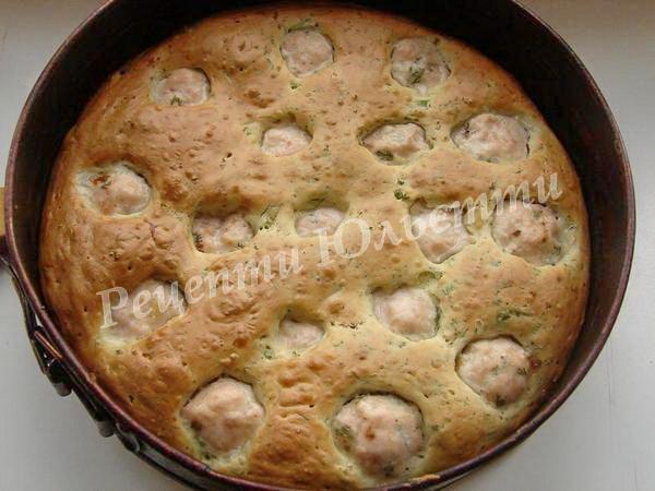 випікаємо пиріг з фрикадельками