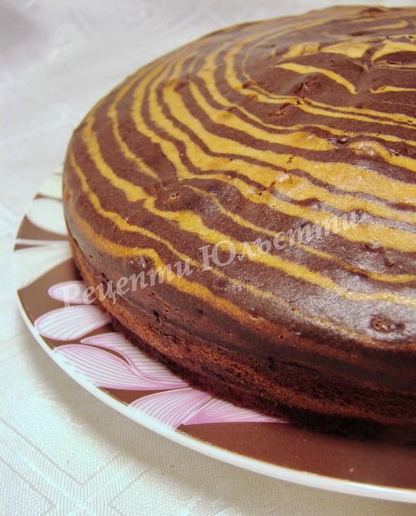 смачний пиріг зебра