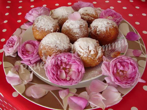 пончики з чайною трояндою до чаю