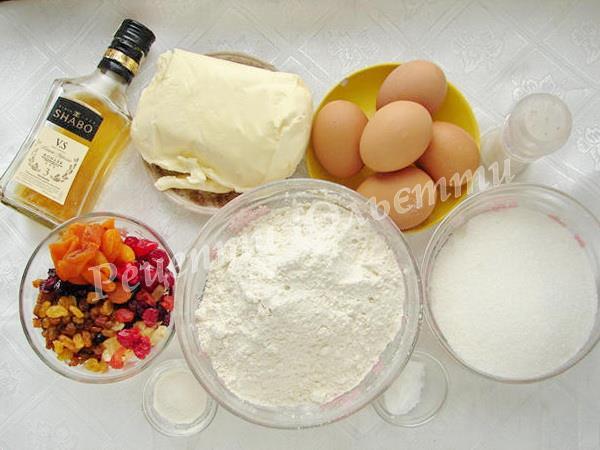 інгредієнти для страви