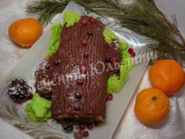 торт різдвяне поліно