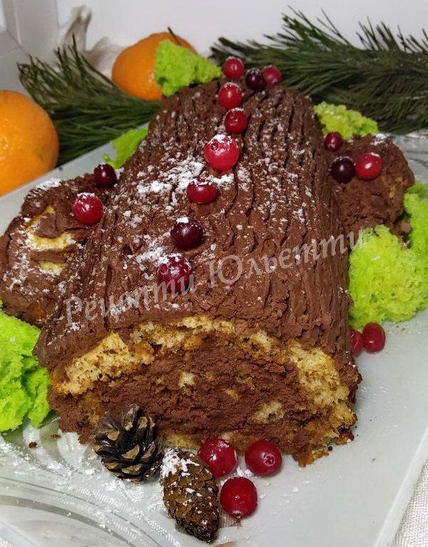 різдвяне поліно рецепт